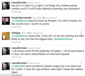 russell crowe circumcision twitter