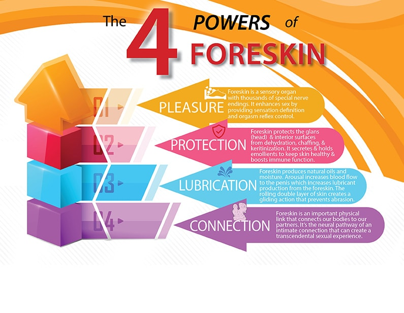 four 4 powers benefits foreskin circumcision facts and myths
