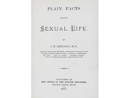 Plain facts Kellogg circumcision facts and myths masturbation 1877